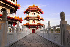 Twin Pagoda @ Chinese Garden, Singapore Royalty Free Stock Image