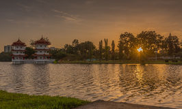 Twin Pagoda Stock Photography