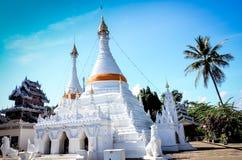 The Twin  pagoda at Wat Phra That Doi Kong Mu. Stock Photos