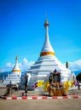 The Twin  pagoda at Wat Phra That Doi Kong Mu. Stock Photo