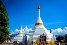 The Twin  pagoda at Wat Phra That Doi Kong Mu. Stock Photography