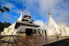 The Twin pagoda at Wat Phra That Doi Kong Mu Royalty Free Stock Image