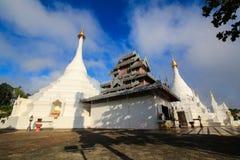 The Twin pagoda at Wat Phra That Doi Kong Mu Stock Photo