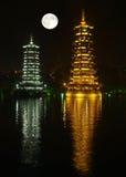 The twin pagodas Stock Photo