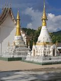 Twin pagodas. Beautiful twin pagodas in north part of Thailand Stock Image
