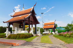 Twin pavilion under sky Royalty Free Stock Images