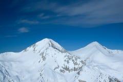 Twin Peaks. Highest peaks on mountain Pirin, Bansko resort, Bulgaria Stock Photos