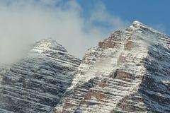 Twin peaks, Maroon Bells Stock Image