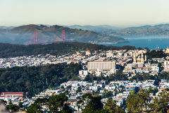 Twin Peaks, San Francisco, California, USA. On the top of San Francisco at Twin Peaks Stock Photos
