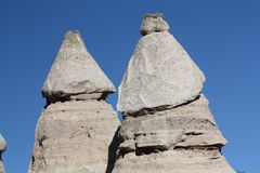 Twin Peaks at Tent Rocks in New Mexico Stock Photo