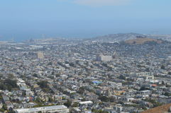 Twin Peaks View San Francisco California. Twin Peaks View of San Francisco California Royalty Free Stock Photography