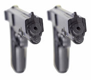 Twin Pistols Royalty Free Stock Image