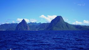 The pitons of saint lucia stock image