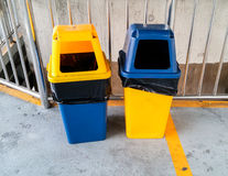 Twin plastic trash Stock Photography