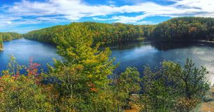 Twin ponds. Double ponds in Rhode Island Stock Image