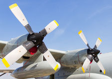 Twin propeller of the plane Royalty Free Stock Image