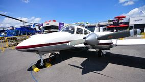 Twin propeller private plane at Singapore Airshow Royalty Free Stock Image
