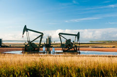Twin pump jack Royalty Free Stock Photos