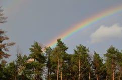 Twin rainbows Royalty Free Stock Image