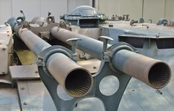 Twin recoilless gun Stock Photo
