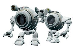 Twin Robots Stock Photos