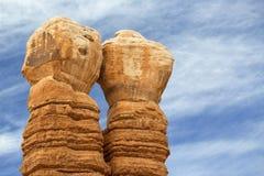 Twin rock columns Royalty Free Stock Photos