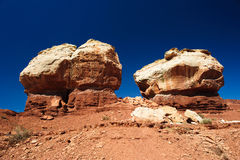 Twin Rocks in Capitol Reef National Park Stock Images