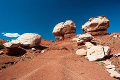 Twin Rocks, Capitol Reef National Park Stock Photo