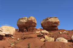 Twin Rocks Capitol Reef National Park Royalty Free Stock Photos