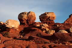 Twin Rocks Stock Photography