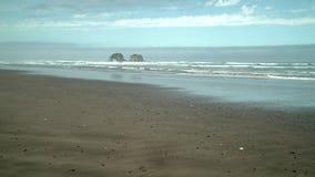 Rockaway Beach, Oregon. United States. 4K UHD. Twin Rocks off shore at Rockaway Beach, Oregon. United States. 4K UHD stock video footage