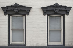 Twin rustic windows Royalty Free Stock Photos