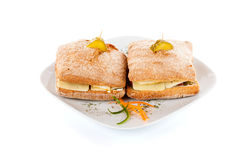 Twin Sandwiches englishman Royalty Free Stock Photo