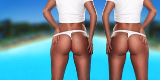 Twin sexy asses Royalty Free Stock Photos