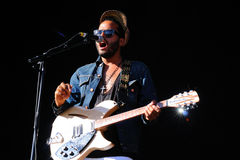 Twin Shadow band performs at Matadero de Madrid on June 22, 2012 in Madrid, Spain. Dia de la musica Festival Stock Image