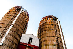 Twin Silos Stock Images