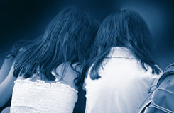 Twin Sisters. And good girl friends Royalty Free Stock Photography