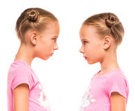 Twin sisters Royalty Free Stock Image