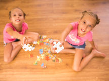 Twin sisters Royalty Free Stock Photos