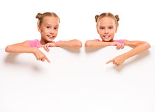 Twin sisters Stock Image