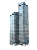 Twin skyscraper Stock Photo