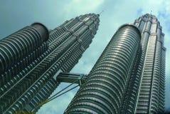Twin skyscraper Petronas Towers, Malaysia Stock Images