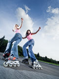 Twin slide Royalty Free Stock Photos
