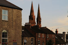 Twin spires, North Yorkshire Stock Photo