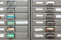 Twin steel filing cabinet Royalty Free Stock Photography