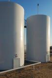 Twin Storage Tanks Royalty Free Stock Photos