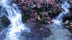 Twin Streams in November stock video footage