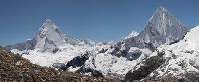 Twin summits panorama Royalty Free Stock Photography