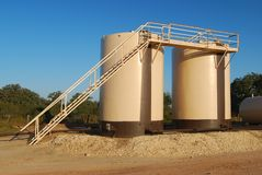 Twin Tan Storage Tanks Stock Images