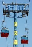 Twin teleferic cabine Royalty Free Stock Images